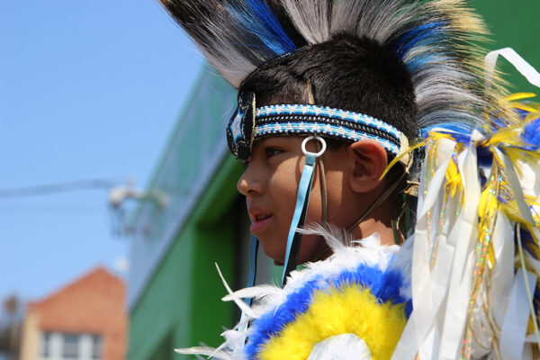 an image of a boy in a yellow headdress