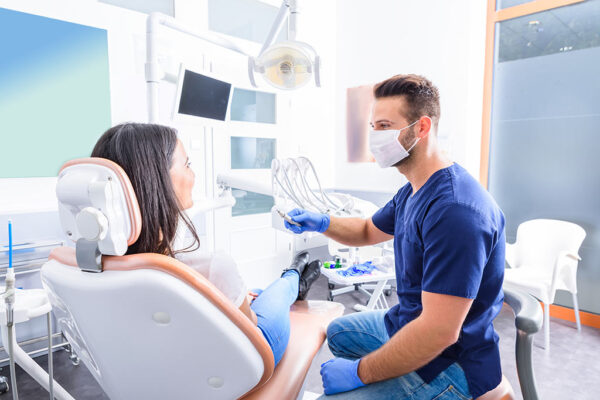 a dentist with a patient